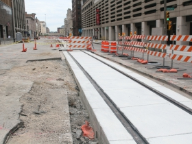 N. Broadway Streetcar Track Construction