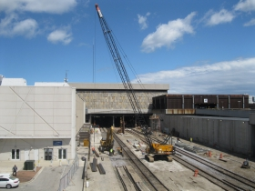 The Train Shed is being rebuilt