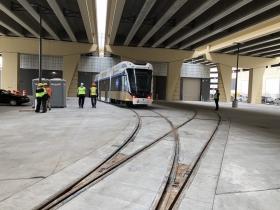 Streetcar Heading Towards OMF