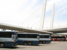 Buses at the Milwaukee Intermodal Station