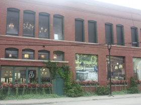 Brass Light Gallery building is a bright spot in the area