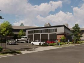 DNR Storage Building Rendering