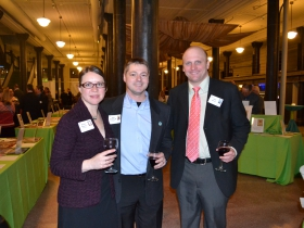 Jessica Z Schafer, John Schafer Jr., and Ald. Nik Kovac.