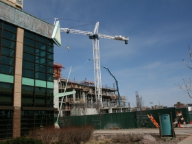 Potawatomi Casino Hotel under construction.