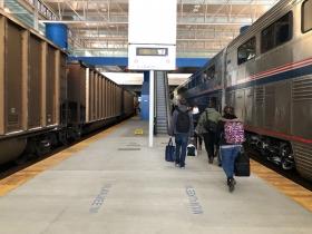 Freight Train in Milwaukee Intermodal Station