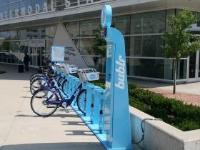 Bublr Bikes at the Milwaukee Intermodal Station