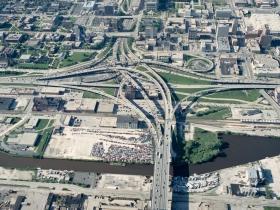 Marquette Interchange Historical Aerial