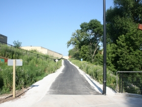 This segment of the Hank Aaron State Trail had been gravel until recently.