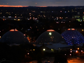 The Domes as seen from atop the Potawatomi Hotel.