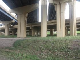 Under the Marquette Interchange