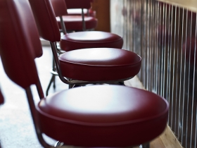 Comfy Bar Stools at the Twisted Fisherman
