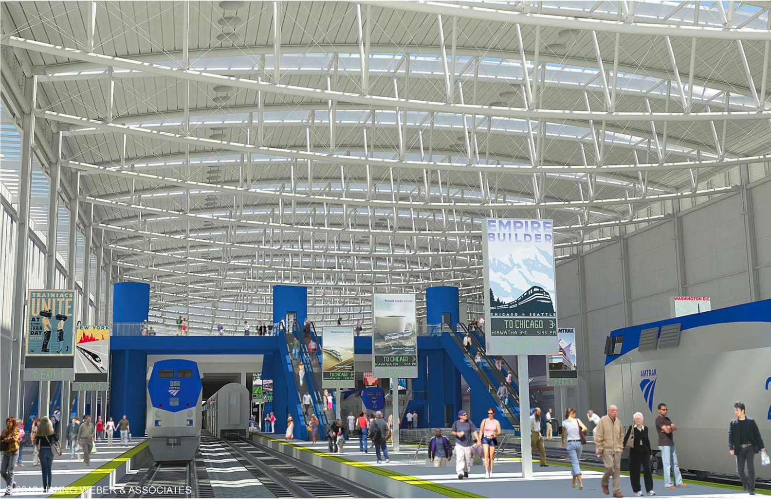 Milwaukee Intermodal Station Train Shed Rendering