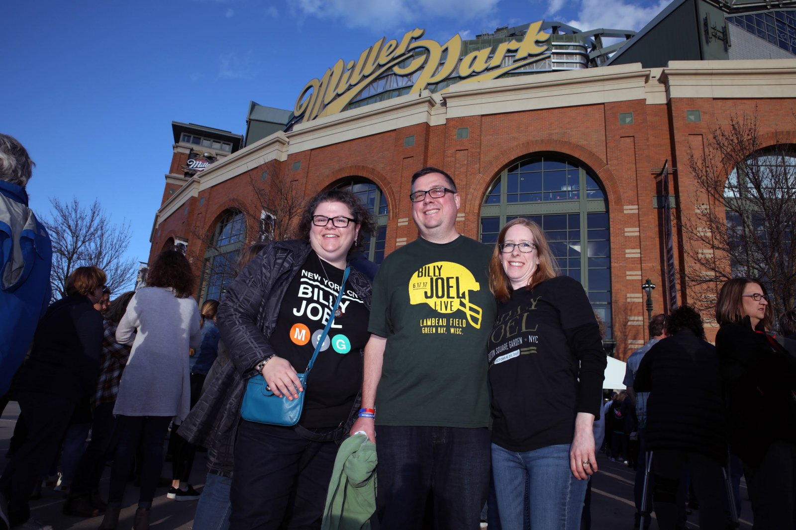 Elizabeth Elsy from Michigan, Brian and Jennifer Maron, from Madison, WI.