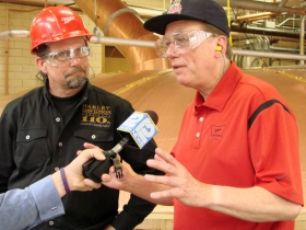 Bill Davidson (left) David Ryder right explaining today's milestone.