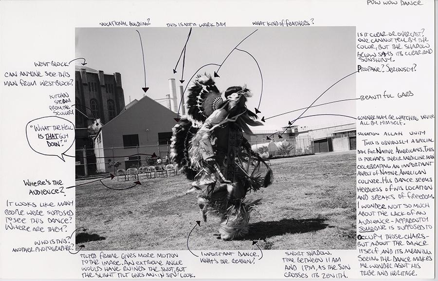 Mesro Coles-El and Nigel Poor. Indian Pow Wow, 2013. Inkjet print and ink.