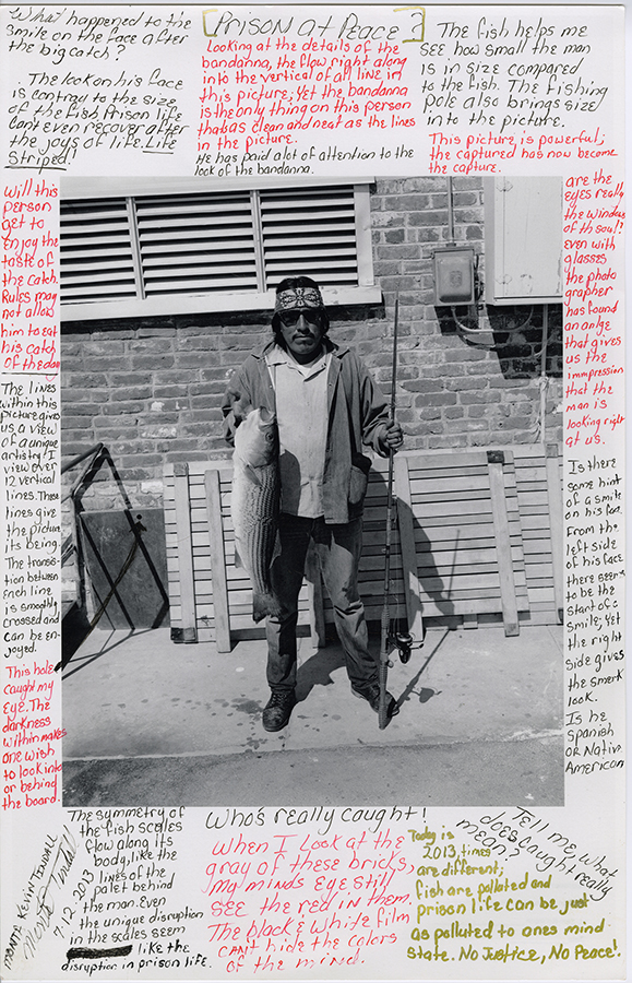 Nigel Poor and Monta Kevin Tindall, Fish Caught at Ranch 9-17-75, 2013. Inkjet print and ink.
