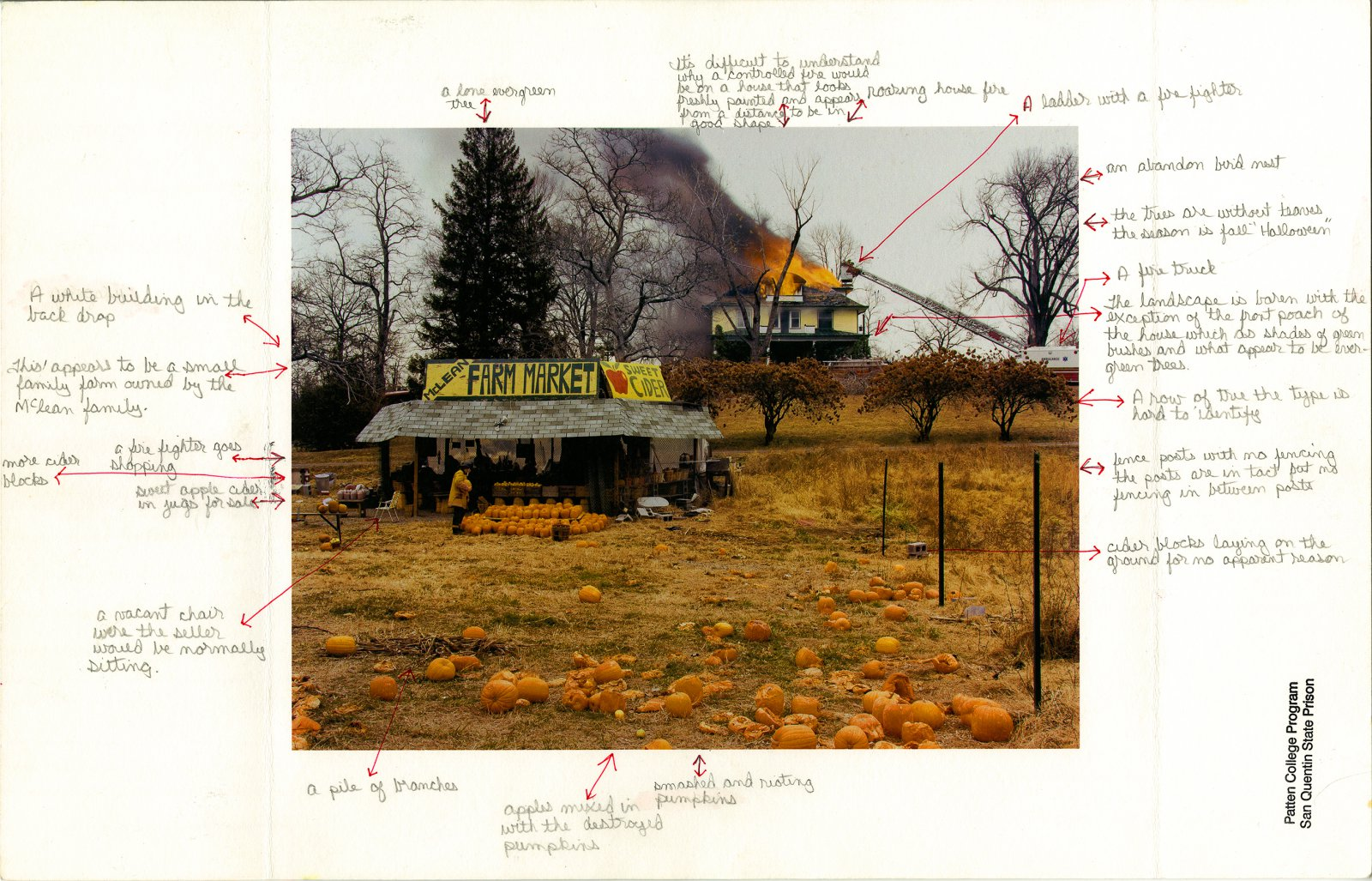 Nigel Poor and Frankie Smith, Mapping Joel Sternfeld, side A, 2011/12. Inkjet print and ink.