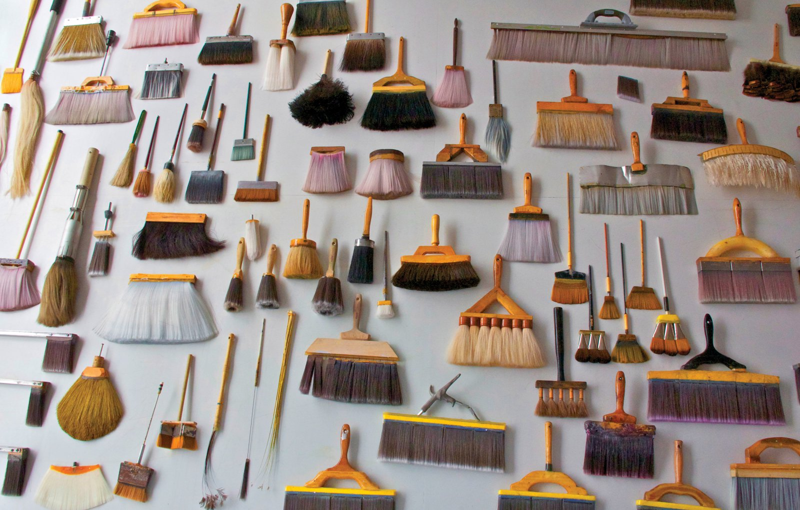James Nares, Brushes, varying year, materials, dimensions