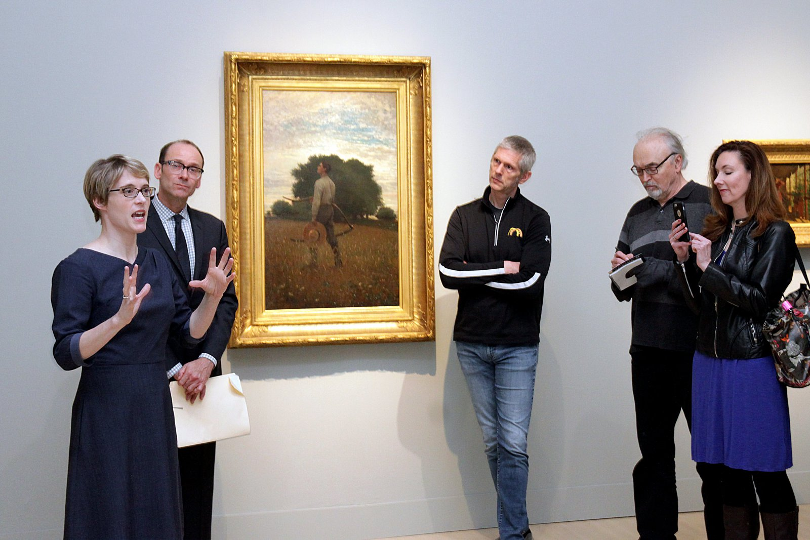 Press tour by curators Elizabeth Athens and Brandon Rudd. \'Coming Away: Winslow Homer and England.\'