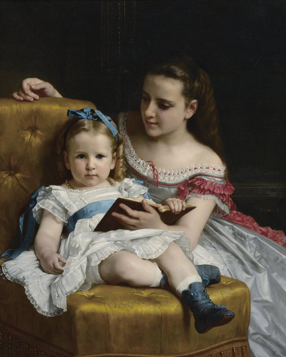 Portrait of Mrs. Johnson Children by William-Adolphe Bouguereau