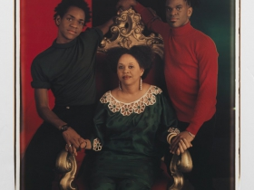 Lyle Ashton Harris, Mother and Sons II, 1994. Dye diffusion transfer print. Courtesy of the artist and Salon 94, New York.