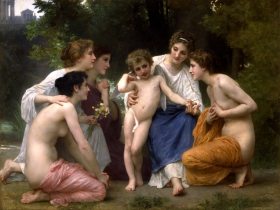 Admiration by William-Adolphe Bouguereau