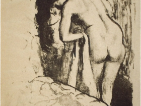 Nude Woman Standing at Her Toilette, 6th state