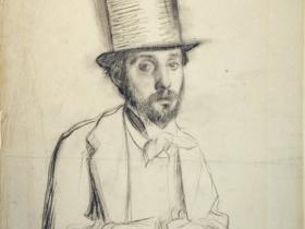 Degas Self-Portrait in a Top Hat