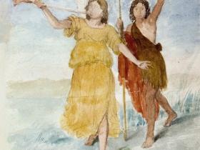 Saint John the Baptist and the Angel
