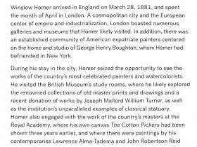 Winslow Homer in London