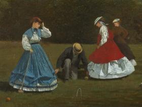 Winslow Homer, Croquet Scene, 1866.