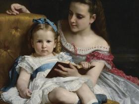 Portrait of Mrs. Johnson Children by William-Adolphe Bouguereau