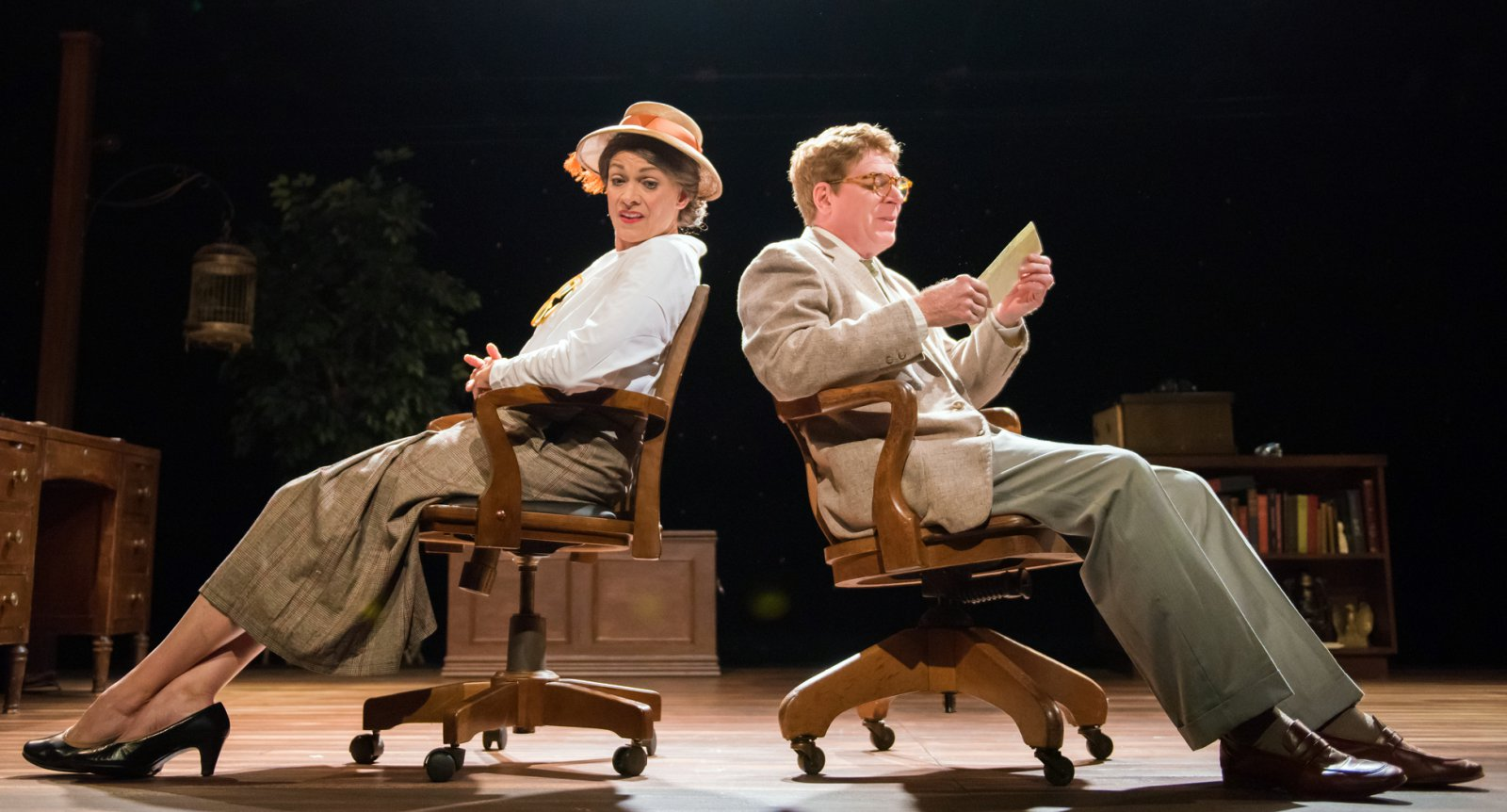 Carrie Hitchcock as Elizabeth Bishop and Norman Moses as Robert Lowell