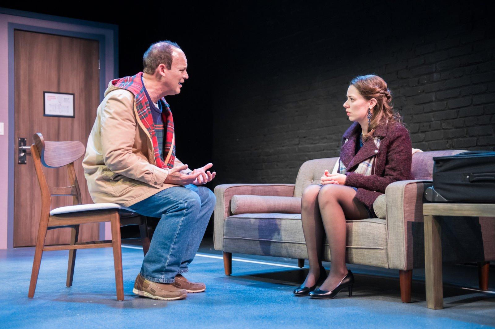 L-R: Tom Klubertanz as Terry McShane & Eva Nimmer as Kelly O'Rourke