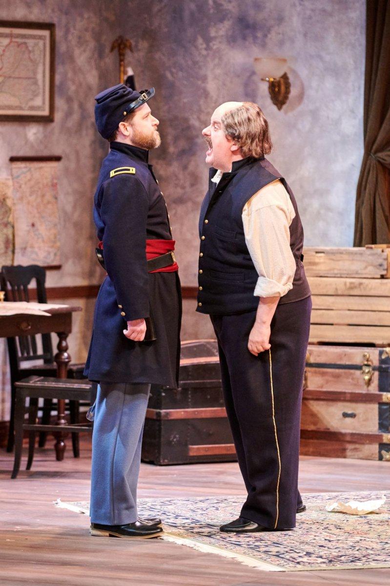 (L-R) Chase Stoeger as Lt. Kelly, Drew Brhel as Maj. Gen. Ben Butler