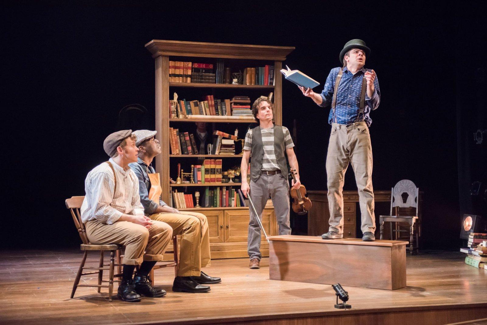 Josh Krause as Pip, Chiké Johnson as Joe, Andrew Crowe, Zach Thomas Woods as Mr. Wopsle