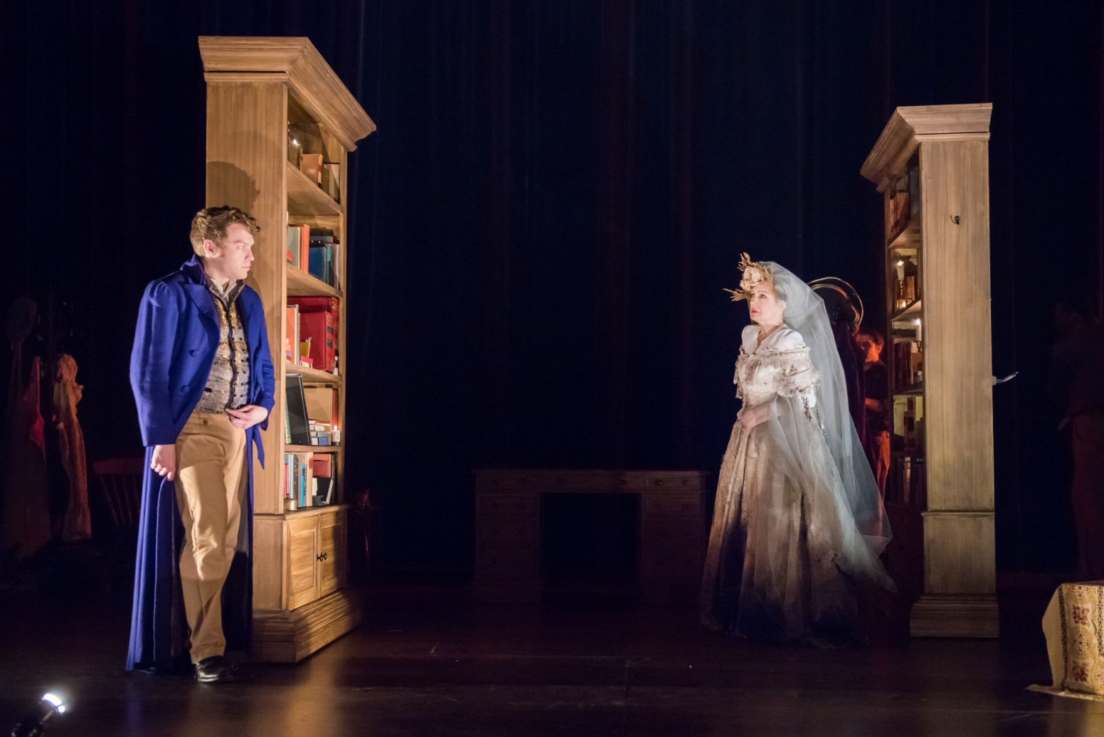 Josh Krause as Pip, Deborah Staples as Miss Havisham