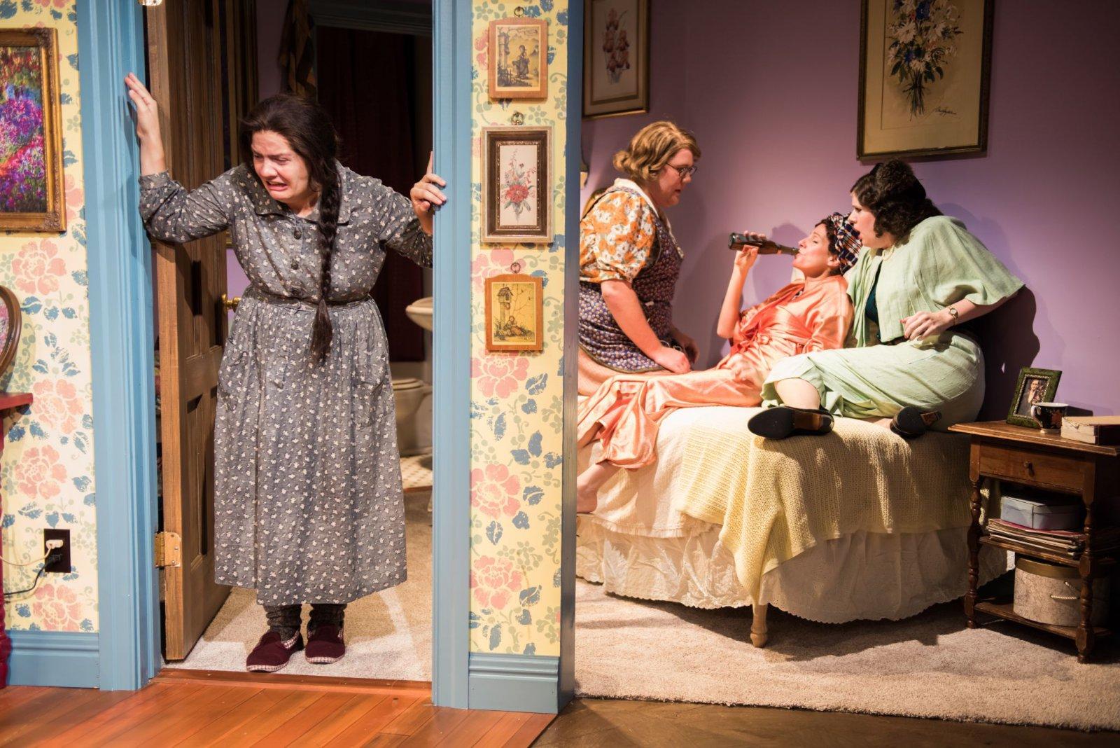 L-R: Karen Estrada as Sophie Gluck, Kelly Doherty as Bodey, Kay Allmand as Dorothea, Molly Rhode as Helena