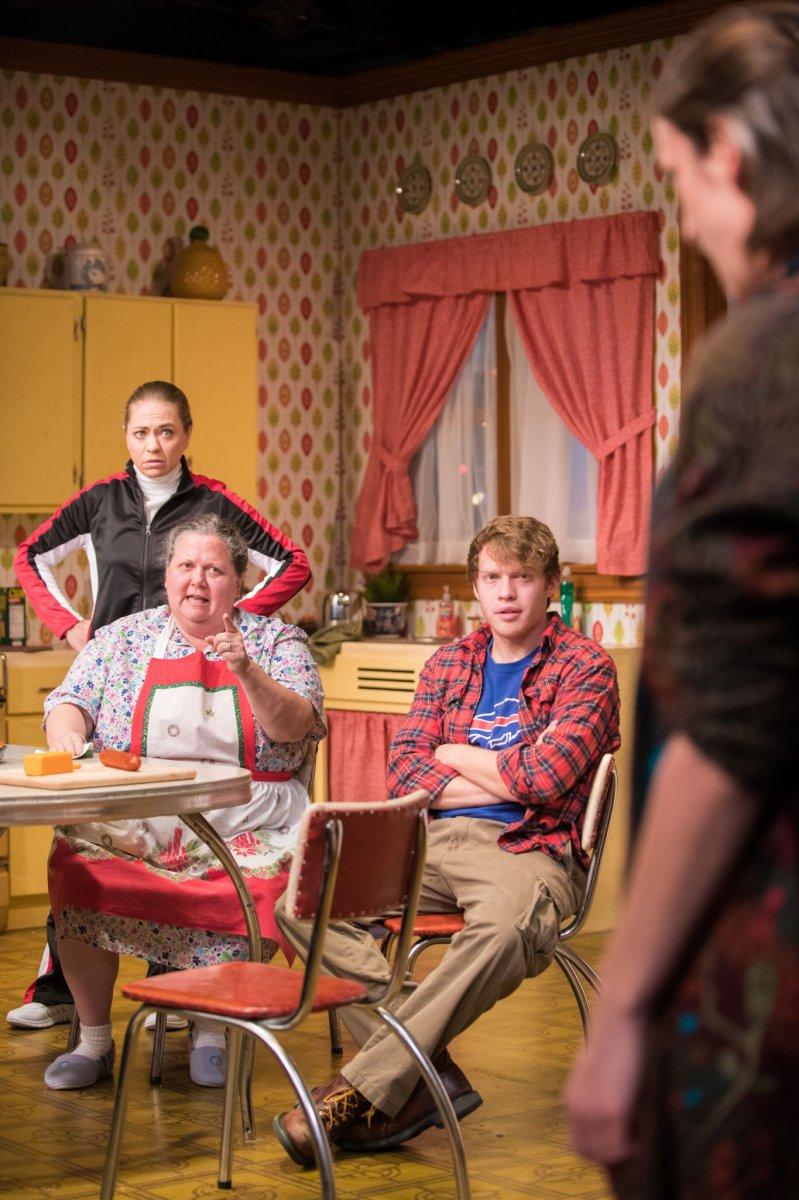 L-R: Greta Wohlrabe as Beverly Nowak, Raeleen McMillion as Clara Nowak, Josh Krause as Jimmy Nowak, Kat Wodtke as Ruth Nowak.