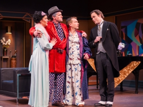 (l-r): Anna Cline as Ruby, Steven M. Koehler as Knuckles, Chris Klopatek as Bertie & Matt Daniels as Jeeves