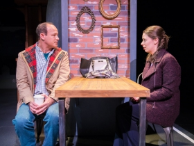 L-R: Tom Klubertanz as Terry McShane, Eva Nimmer as Kelly O'Rourke