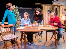 L-R: Mary MacDonald Kerr as Denise McShane, Eva Nimmer as Kelly O'Rourke, Sara Zientek as Abby McShane, Tom Klubertanz as Terry McShane