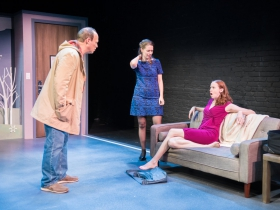 L-R: Tom Klubertanz as Terry McShane, Eva Nimmer as Kelly O'Rourke, Laura Gray as Kathleen O'Rourke