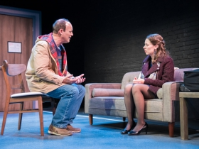 L-R: Tom Klubertanz as Terry McShane & Eva Nimmer as Kelly O'Rourke