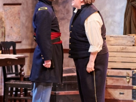 (L-R) Chase Stoeger as Lt. Kelly, Drew Brhel as Maj. Gen. Ben Butler