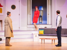 L-R: Ryan Schabach as Robert, Anne Walaszek as Gloria, Brian J. Gill as Bernard