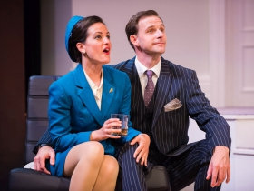 L-R: Amber Smith as Gabriella, Brian J. Gill as Bernard
