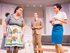 L-R: Marcella Kearns as Berthe, Ryan Schabach as Robert, Amber Smith as Gabriella