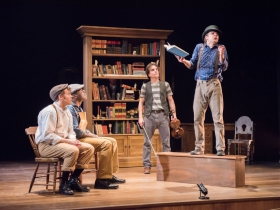 Josh Krause as Pip, Chiké Johnson as Joe, Andrew Crowe, Zach Thomas Woods as Mr. Wopsle