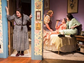 L-R: Karen Estrada as Sophie Gluck, Kelly Doherty as Bodey, Kay Allmand as Dorothea, Molly Rhode as Helena